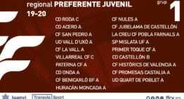 Oficial: grupos confirmados FFCV de Regional Preferente Juvenil 2019-2020