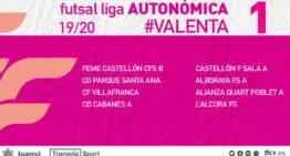 La FFCV define los grupos de la Liga Autonómica y Promoción Valenta de fútbol sala