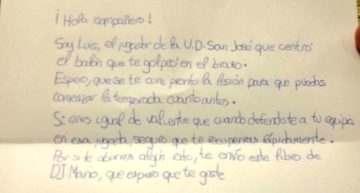 La deportividad del joven Luis (UD San José) con un rival: 'Espero que se te cure pronto la lesión'