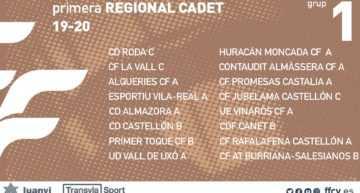 La Primera Regional Cadete FFCV 2019-2020 ya tiene grupos confirmados