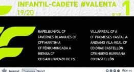 Confirmados los grupos de la Liga Valenta Infantil-Cadete 2019-2020