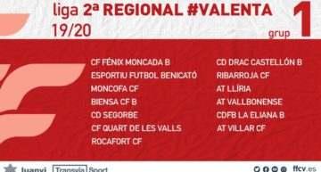 Anunciados los grupos de Segunda Regional Valenta 2019-2020