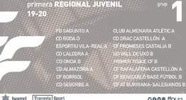 Grupos 19-20 confirmados para la Primera Regional Juvenil FFCV