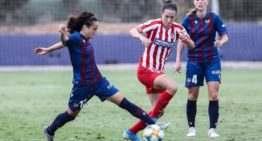 El Levante Femenino se quedó a un paso de 'rascar' un punto ante un Atlético 'de estreno' (0-1)
