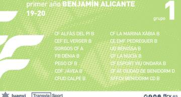 Los Benjamines de Alicante ya tienen sus grupos FFCV 2019-2020 confirmados
