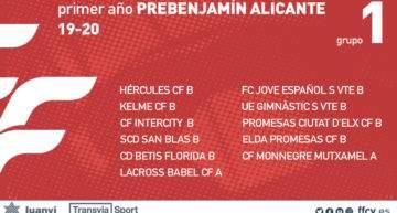Grupos confirmados en Alicante para las categorías Prebenjamín 2019-2020