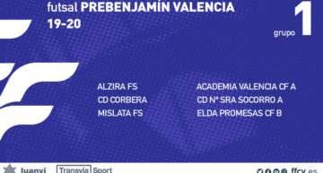 Ni clasificación ni estadísticas: estos son los grupos de la nueva categoría Prebenjamín FFCV de futsal