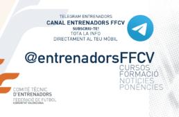 La FFCV abre un canal de Telegram exclusivo para entrenadores