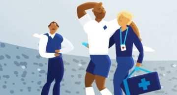 Así debes actuar en caso de conmoción cerebral en un partido de fútbol o fútbol base