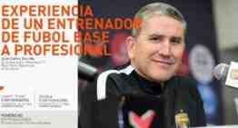 Juan Carlos Garrido repasará su experiencia desde la base hasta el profesionalismo el 2 de diciembre