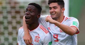 España Sub-17 se mete en octavos del Mundial con pleno tras derrotar a Camerún (0-2)
