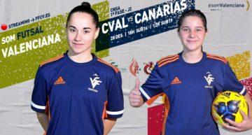 STREAMING: Selecció FFCV Femenina Sub-16 y Sub-19 futsal vs Canarias