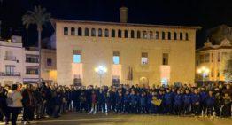 GALERÍA: El Atlétic Llíria salió a la calle para protestar por la situación sanitaria de El Canó