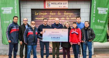 El Mislata UF entrega casi 3.500 euros a la AECC recaudados en el Memorial Eric Lozano