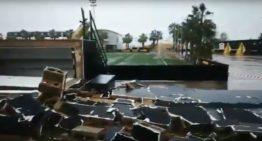 VIDEO: El Campo Hermanos Albiol de Vilamarxant, arrasado por la tormenta