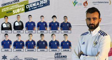 Convocatoria de Javier Lozano para el CNSA de Fútbol Sala en Cuenca