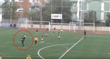 VIDEO: El arrepentimiento del entrenador de benjamines que celebró 'a lo loco' un gol ante el CF Bufalà