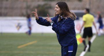 Andrea Esteban: 'Estoy muy contenta con el trabajo de mis jugadoras'