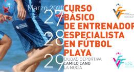 Ya está abierta la convocatoria del Curso básico de entrenador de fútbol playa