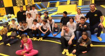 La cantera del CD Castellón disfrutó junto a Síndrome de Down Castellón en Estepark