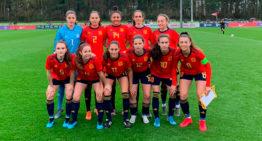 Fiamma, Irene, Ainhoa y Estela tuvieron minutos con España Sub-16 en la victoria ante Estados Unidos