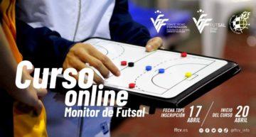 Nuevo curso online FFCV de Monitor de fútbol sala a partir del 20 de abril