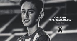 Luto en el Atlético de Madrid por el fallecimiento de su jugador infantil Christian Minchola