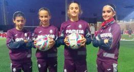 Jennifer, Sheila, Balma y Eva: las cuatro 'cazagoles' del Alevín del Villarreal Femenino