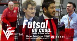 La FFCV reúne a cuatro entrenadores de futsal de élite este martes 7 de abril