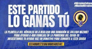 El Hércules arranca su campaña solidaria para los niños afectados por el Covid-19