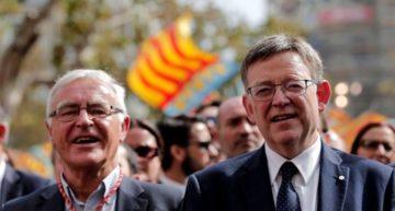 Puig y Ribó agradecen al Levante UD su donación de casi 300.000 euros contra el Covid-19
