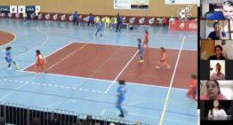 Charlas tácticas y análisis de errores de la Selecció Valenciana Valenta sub16 de futsal durante el confinamiento