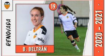 El Valencia renueva a la joven Bea Beltrán una temporada, hasta junio de 2021