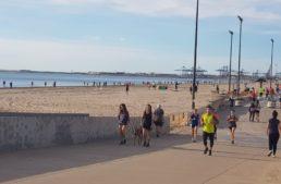 La Comunitat Valenciana sale a la calle por primera vez en cincuenta días a hacer deporte