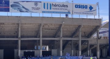 La directiva del Hércules pide 'unión' el mismo día que más de un centenar de aficionados denuncian su gestión
