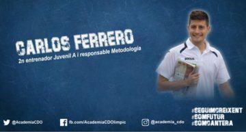 La Academia del CD Olímpic confirma a Carlos Ferrero como responsable de metodología