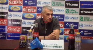 Vicente Parras (CD Alcoyano) sigue soñando: 'Nos queda el partido más importante'