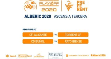 EN DIRECTO: Sigue aquí los partidos CFI Alicante vs Torrent CF y CD Buñol vs Rayo Ibense