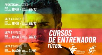 Se amplía una semana el plazo para inscribirse a los cursos FFCV de entrenador Nacional C de futsal y UEFA C de fútbol