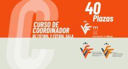 Sólo habrá 40 plazas disponibles para el I Curso FFCV de Coordinador de fútbol y fútbol sala