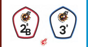 Así son los nuevos logos RFEF para los parches de Segunda B y Tercera División