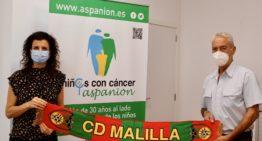 GALERÍA: CD Malilla firma un convenio de colaboración con Aspanion contra el cáncer infantil