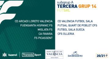 Así son los cuatro subgrupos de la Tercera División valenciana de futsal