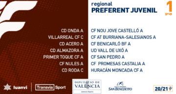 La Liga Preferente Juvenil 20-21 ya tiene sus calendarios de competición
