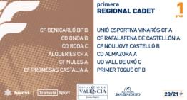 Grupos confirmados de Primera Regional Cadete 2020-2021