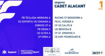 Estos son los grupos 20-21 de Segunda Regional Cadete de Alicante
