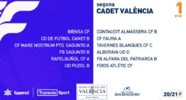 Grupos confirmados en Segunda Cadete de Valencia 20-21