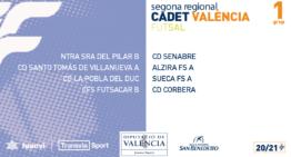 Grupos y calendarios 20-21 de Segunda Regional Cadete de fútbol sala