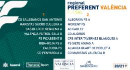 La Regional Preferente 20-21 de fútbol sala de toda la Comunitat ya tiene calendarios y grupos