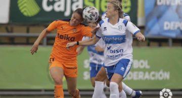 El VCF Femenino se vio remontado y superado por el Granadilla Tenerife (2-1)